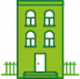 A house icon to signify decent and genuinely affordable homes for all