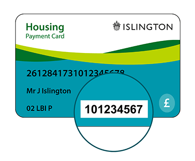 Housing payment card