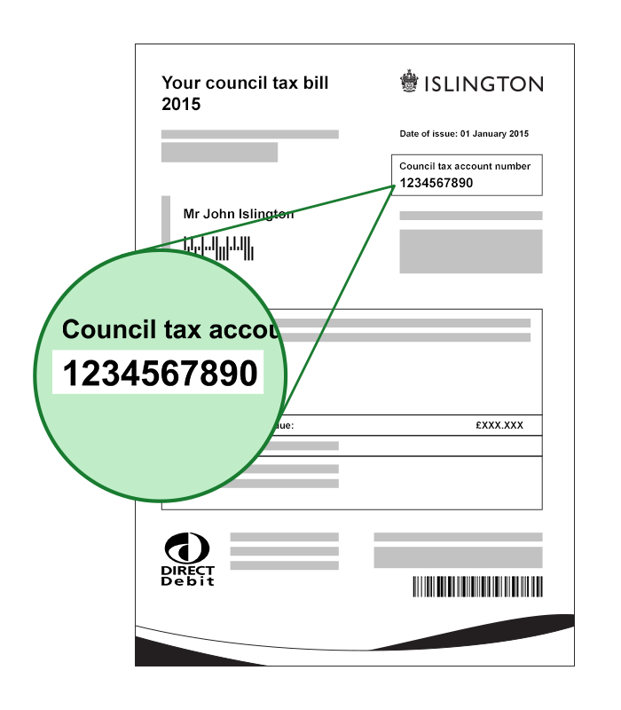 Where to find your council tax account number